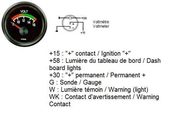 TheSamba  Gallery - VDO Volt gauge wiring diagrams