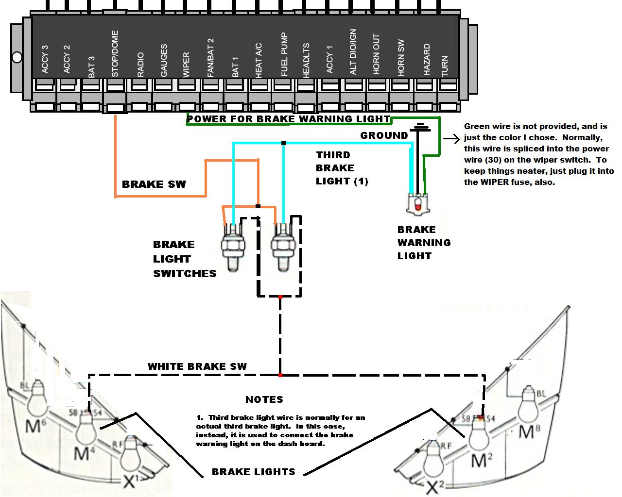 generator wiring diagram 1974 vw thing