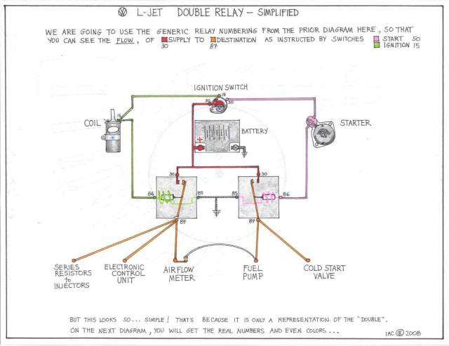 TheSamba  Bay Window Bus - View topic - Double Relay Explained