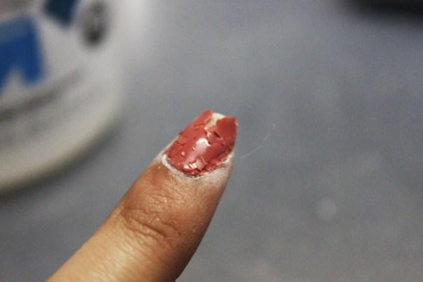 Flaking nail polish