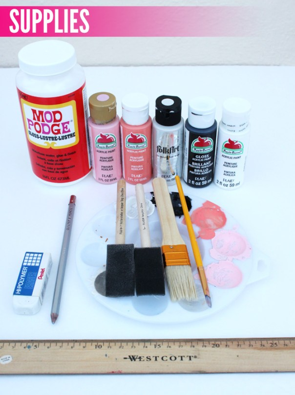 DIY Painted Yoga Mat Supplies