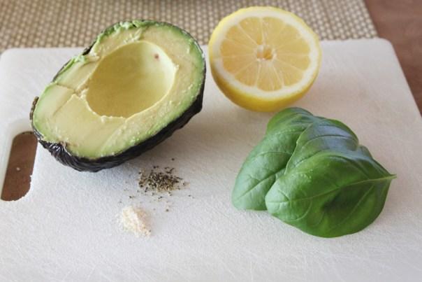 Creamy Avocado Pasta Ingredients
