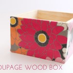 Decoupage Wood Box