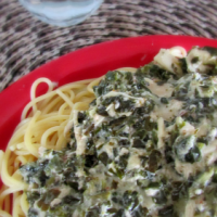 Slow Cooker Spinach Chicken Pasta Recipe!