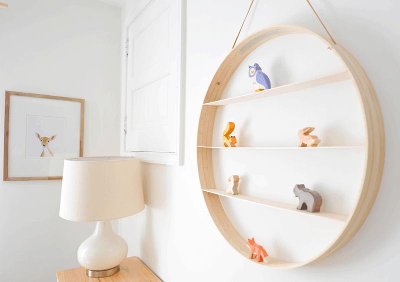 Wood Craft Ideas For Kids Part - 18: DIY Circular Shelf