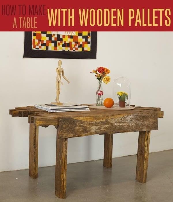 MOdern pallet table