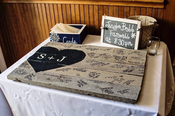 Wedding pallet guest book