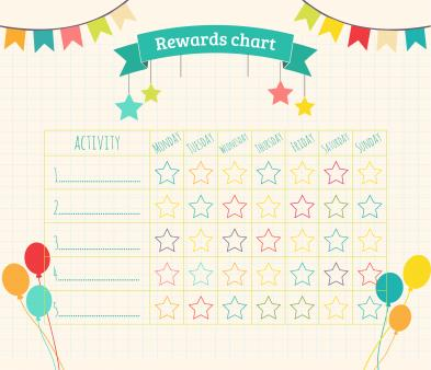 Free printable reward chart Downloadable reward charts