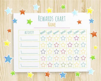 Free printable reward chart Downloadable reward charts