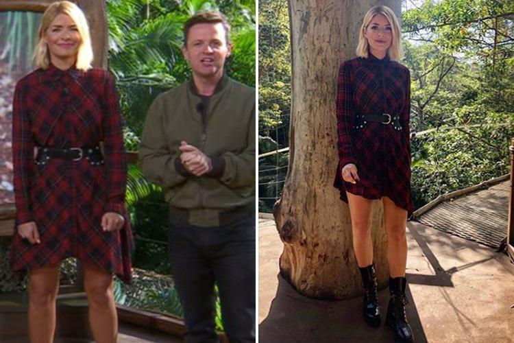 How To Get Holly Willoughby39s I39m A Celebrity Red Plaid