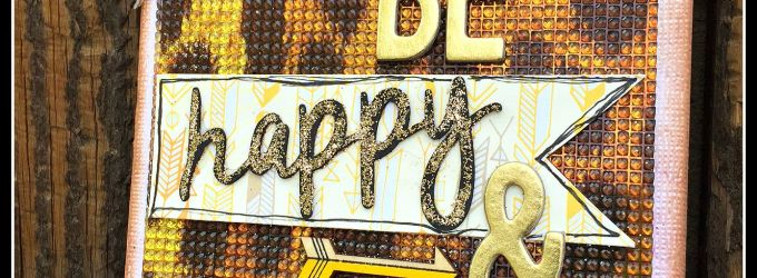 BE Happy & Celebrate Bling Card