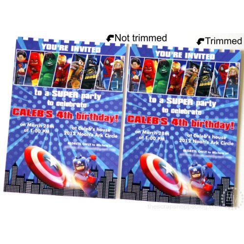Medium Crop Of Superhero Birthday Invitations