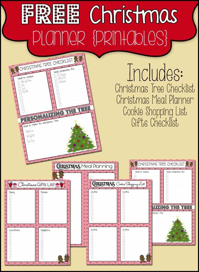 Christmas Planner Free Printables - The Scrap Shoppe