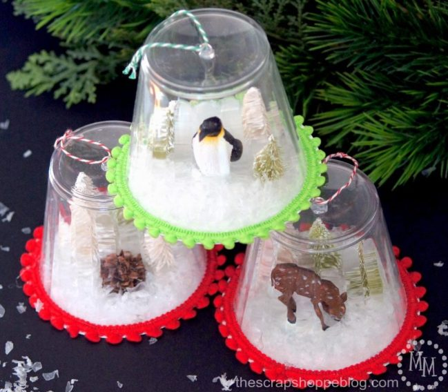 Diy snow globe ornaments kids craft for Snow globe craft for kids