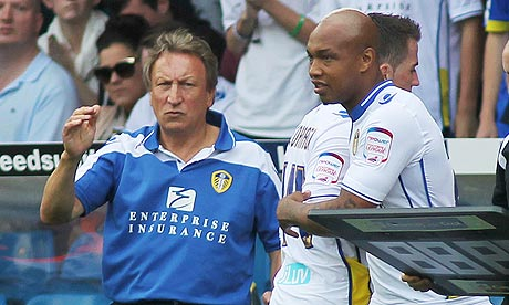 El Hadji Diouf about to come on for Leeds