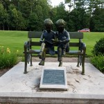 Children on Bench Statue