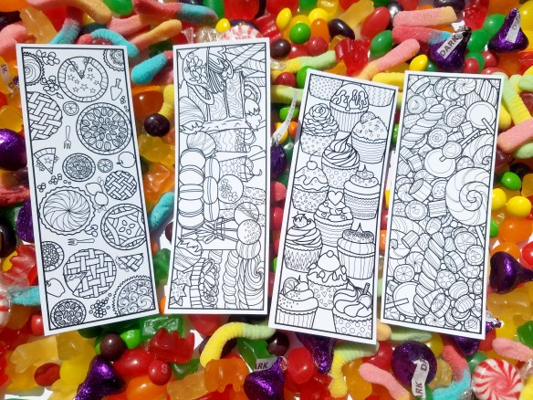 Coloring bookmarks preview