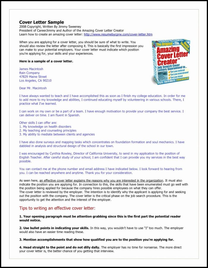 Amazing Cover Letter Creator Cover-letter  Resume Examples