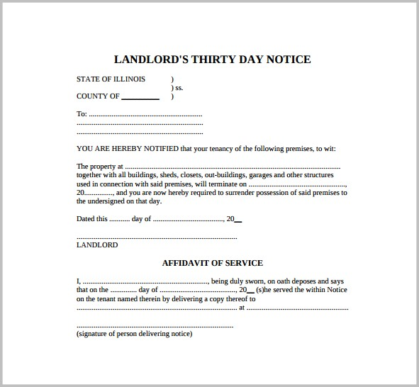 Notice Of Eviction Forms Free Form  Resume Examples