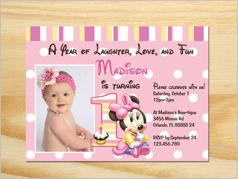 Free 1st Birthday Invitation Templates Printable Templates-1