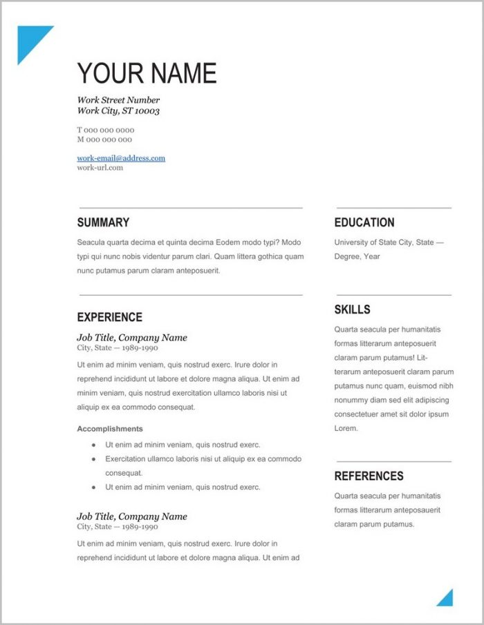 Download Executive Resume Templates Templates-1  Resume Examples