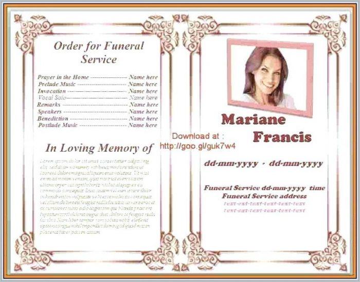 free funeral program template microsoft word 2003 - Canasbergdorfbib