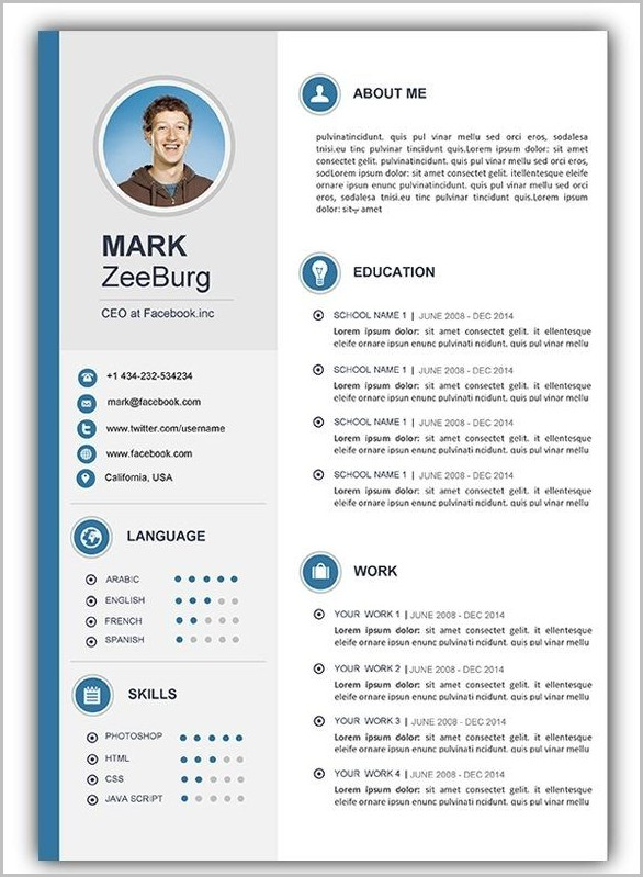 Free Resume Template Word Document Download Templates-1  Resume