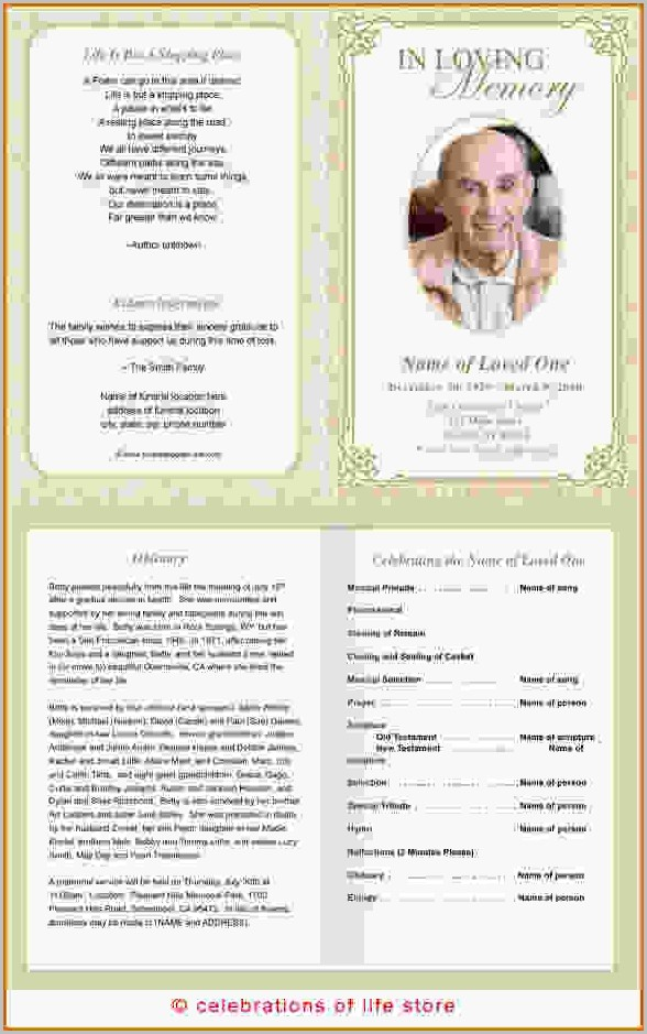 Funeral Program Template Download Free Templates-1  Resume Examples