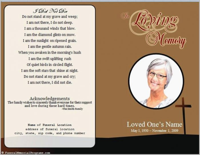 free funeral program templates for mac
