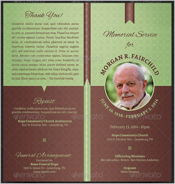 Funeral Program Template Free Templates-1  Resume Examples