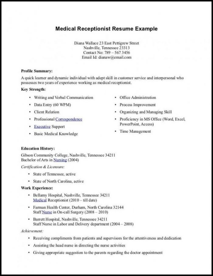 Medical Resumes And Cover Letters Cover-letter  Resume Examples
