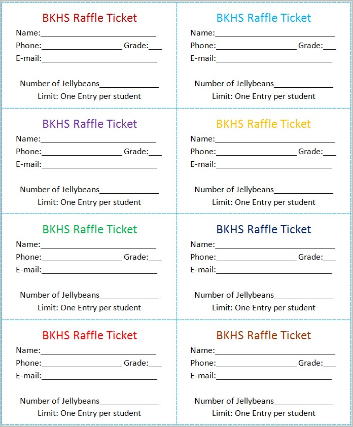 Raffle Ticket Template Microsoft Word Templates-1  Resume Examples