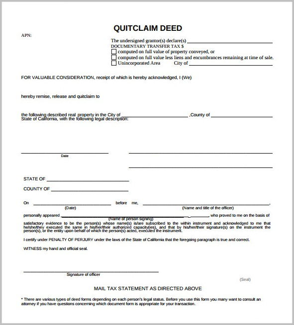 Quick Claim Deed Form Florida Form  Resume Examples