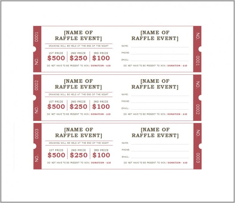 Raffle Ticket Template Google Docs Templates-1  Resume Examples