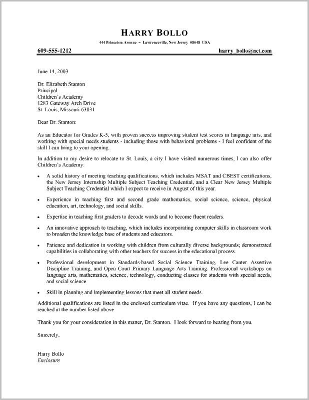Template For Cover Letter For Teaching Position Cover-letter