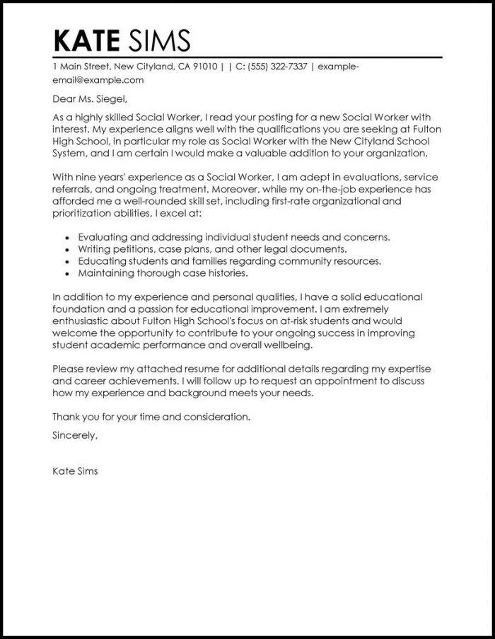 Cover Letter Examples For Resume Social Work Cover-letter  Resume