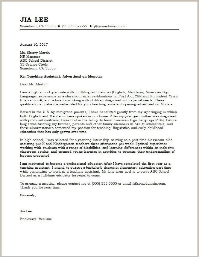Template Cover Letter Teacher Cover-letter  Resume Examples