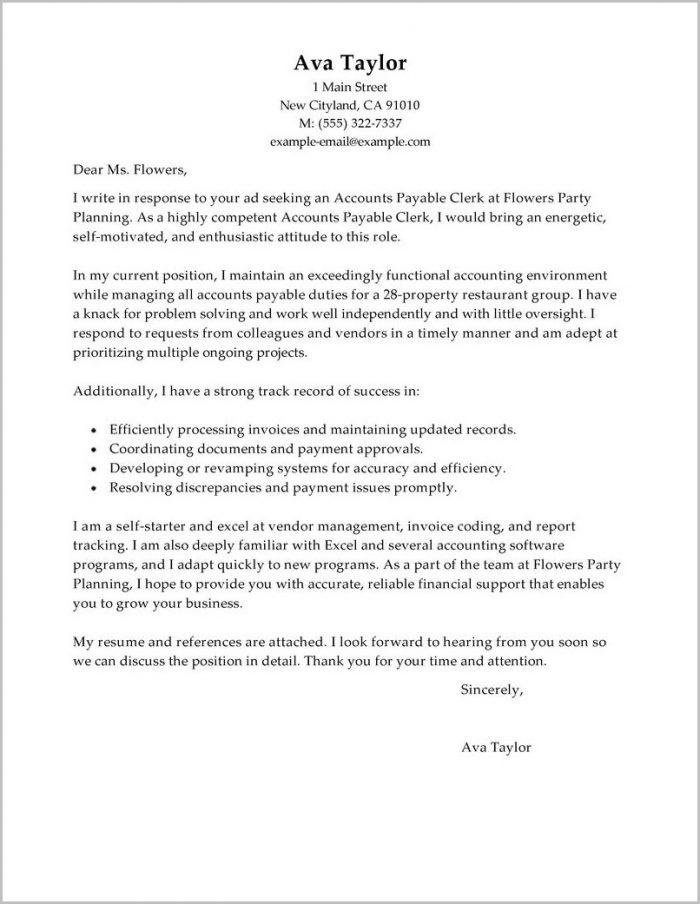 Accounts Payable Officer Cover Letter Sample Cover-letter  Resume