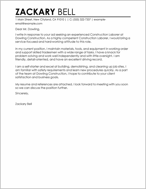 Cover Letter For Resume Construction Manager Cover-letter  Resume