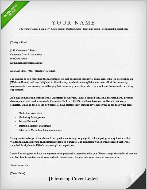 Cover Letter Samples Resume Genius Cover-letter  Resume Examples