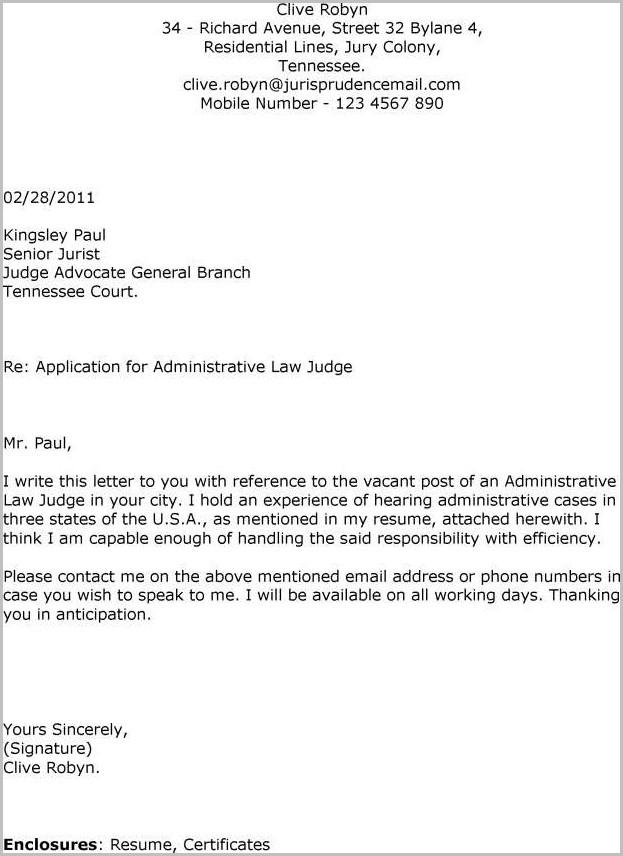 Cover Letter For Email Job Application Examples Cover-letter