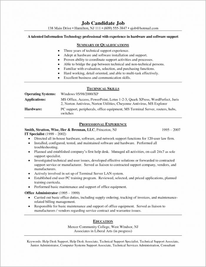 It Helpdesk Support Engineer Cover Letter Cover-letter  Resume Examples
