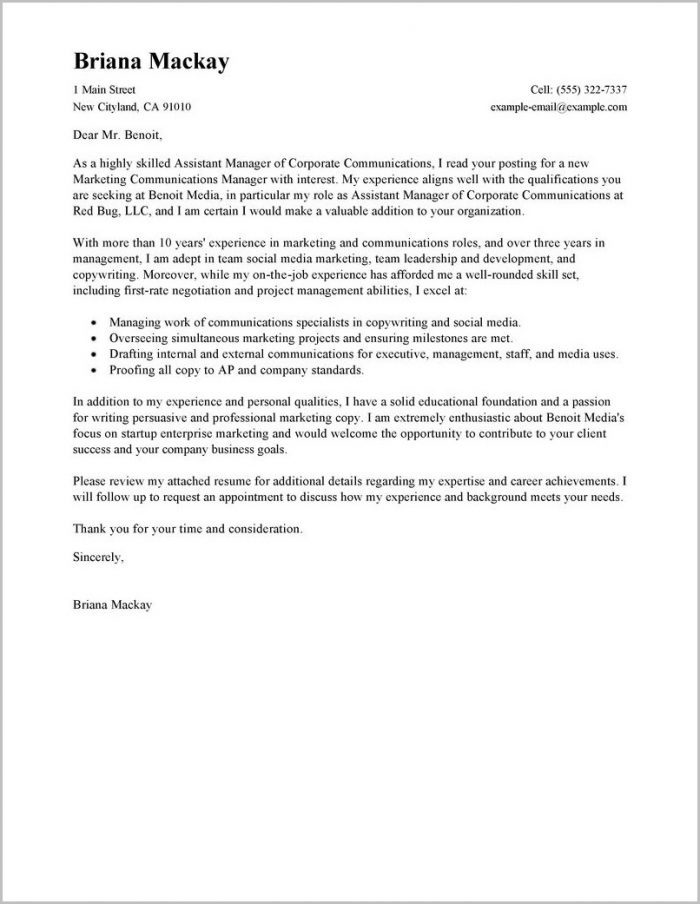 Property Manager Cover Letter Sample Free Cover-letter  Resume Examples