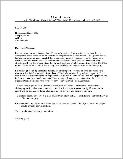 Cover Letter Sample For Help Desk Position Cover-letter  Resume