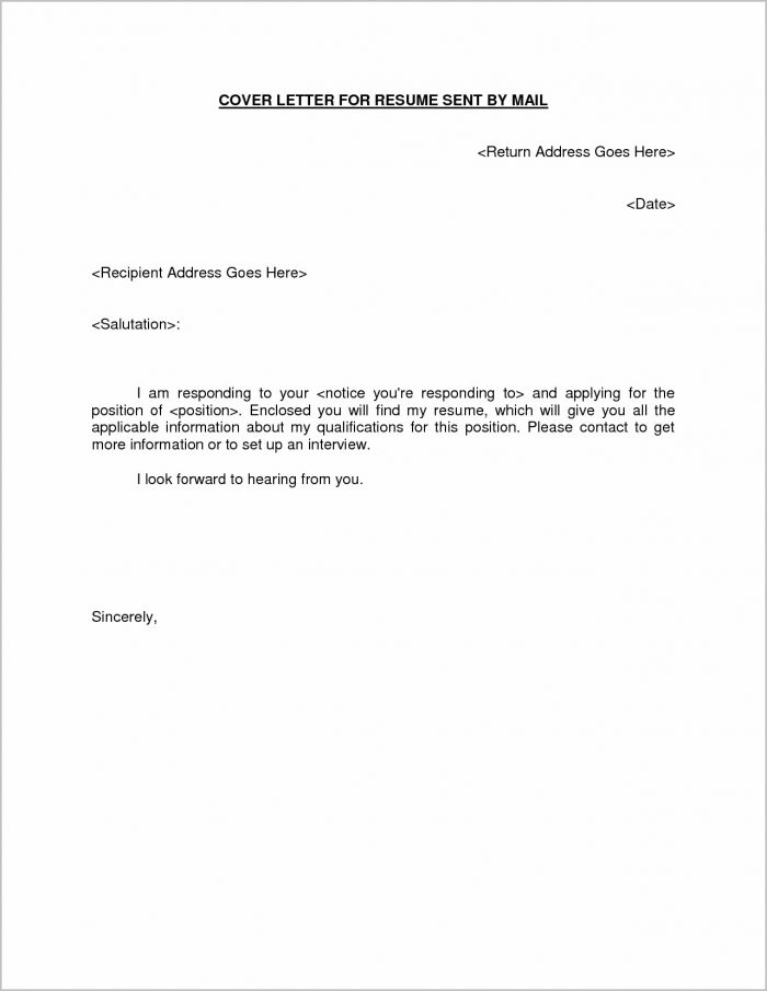 Email Cover Letter Samples For A Resume Submission Cover-letter