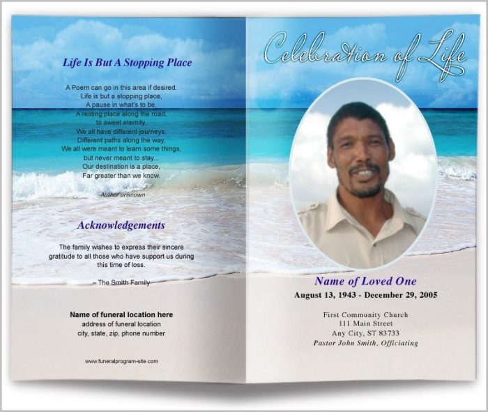 Free Funeral Program Template For Microsoft Word Templates-1