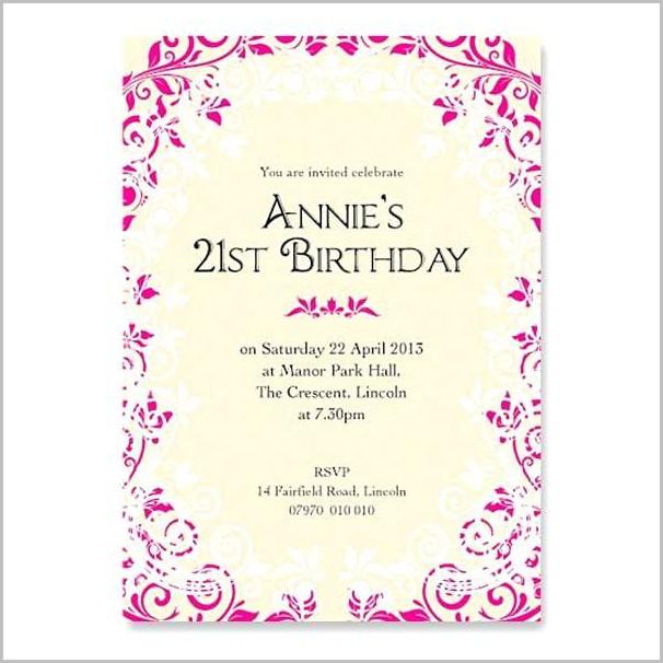 Free Online 1st Birthday Invitation Templates 1 Resume