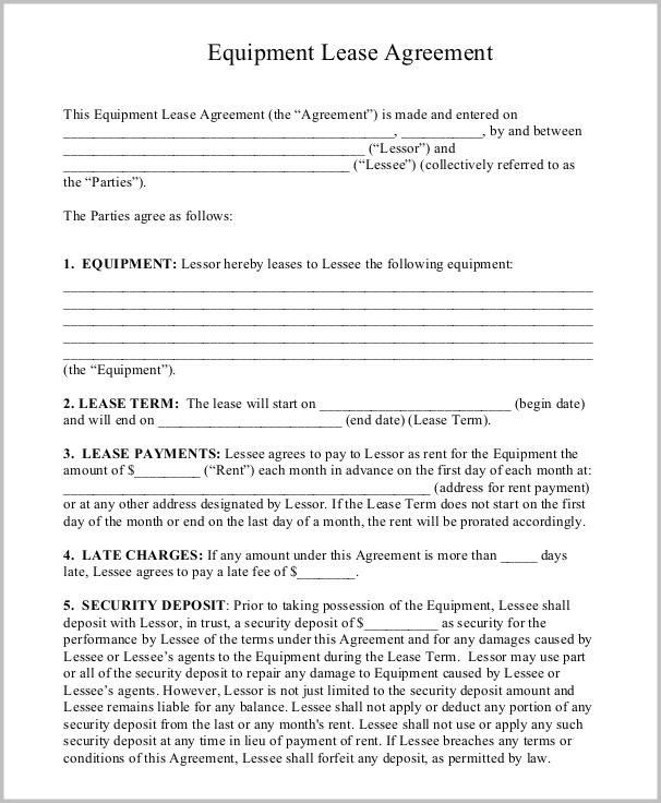 Free Lease Agreement Template Word Doc Templates-1  Resume Examples