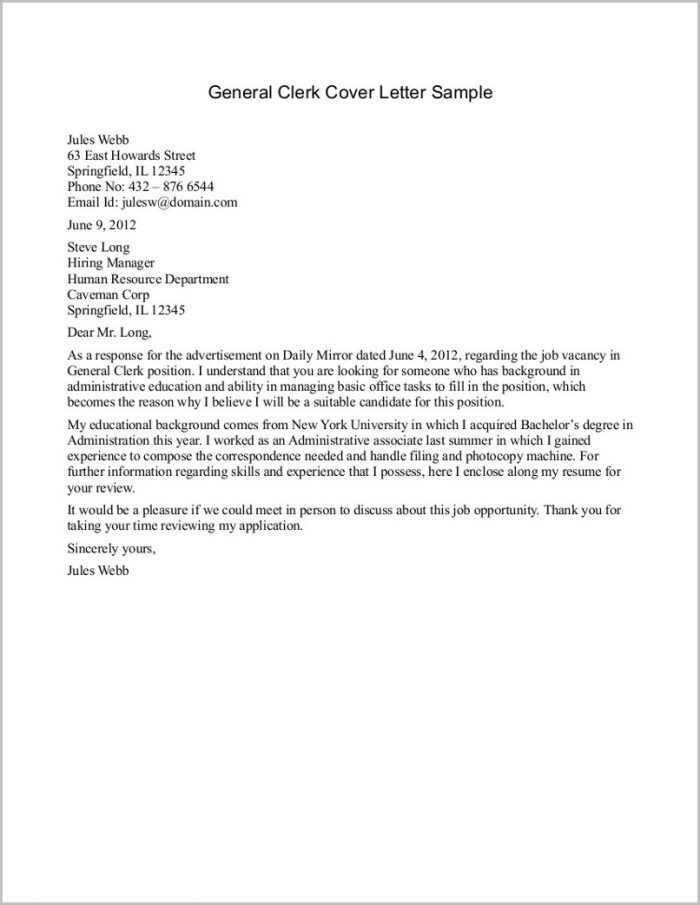 General Cover Letter Sample Free Cover-letter  Resume Examples