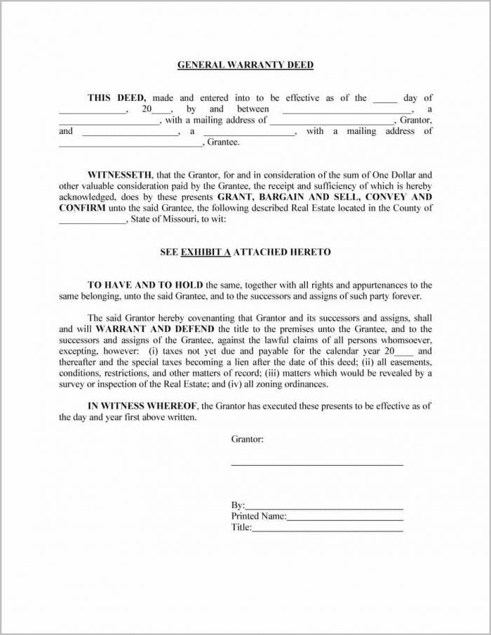 Blank Warranty Deed Form Ohio Form  Resume Examples